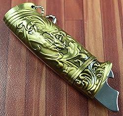Designer Butane Jet Flame Cigarette Lighter With Antique Finish-LIT379
