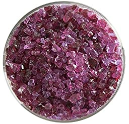 Fuchsia Transparent Coarse Frit - 4oz - 90COE - Made From Bullseye Glass