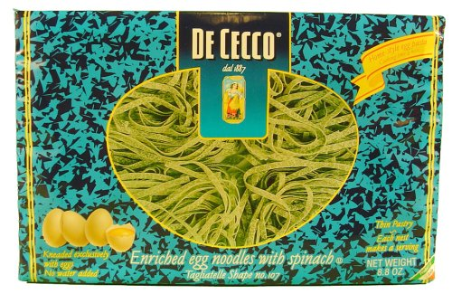 De Cecco Egg Spinach Tagliatelle 8.8 oz Box
