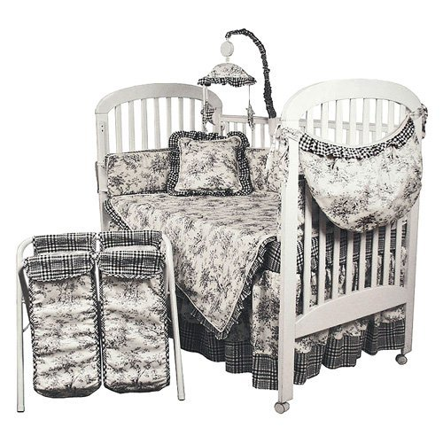 Hoohobbers 4-Piece Crib Bedding, Etoile Black