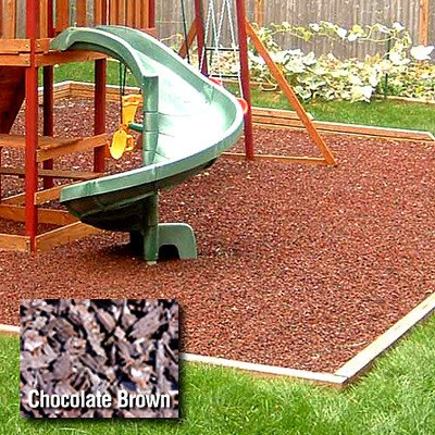 Kidwise Playground 1/2 Pallet Rubber Mulch - Chocolate Brown front-689170