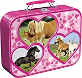 Schmidt Spiele 55588 - Pferde, Puzzle-Box 2 x 26, 2 x 48 Teile im Metallkoffer