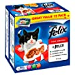 Felix Foil Meat Selection in Jelly 12 x 100 g (Pack of 4)