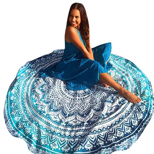 Table Cloth Buedvo Boho Beach Pool Home Shower Towel Blanket Table Cloth Yoga Mat (Diameter:148cm/58