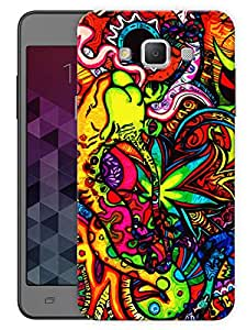 "Humor Gang Trippy Grass Cannabis Art Printed Designer Mobile Back Cover For ""Samsung Galaxy E5"" (3D, Matte, Premium Quality Snap On Case)"