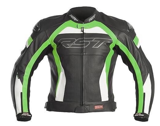 Nouvelle RST Pro Series CPXC veste de moto en cuir vert