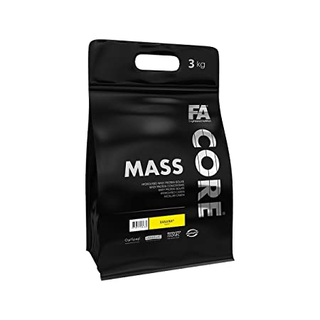 FA Nutrition Mass Core - 3kg - Erdbeere - Weight Gainer
