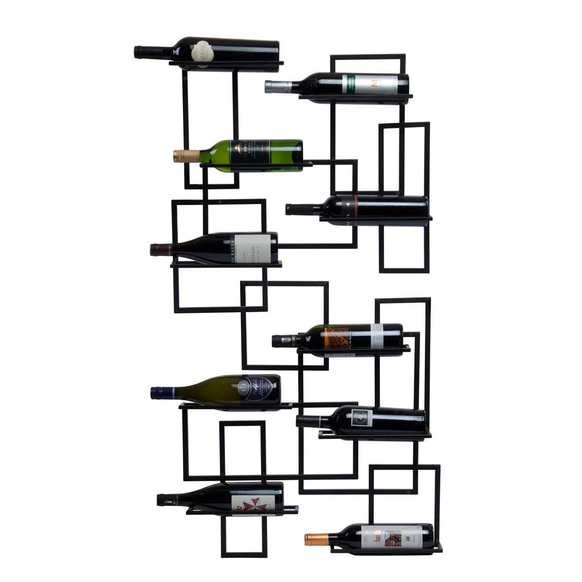 Wooden wine racks natural and clean in retro style for Wall mount wine rack