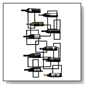 Unique Wall Mount Wine Rack - 10 Bottles