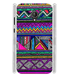 Indian Tribal Art Soft Silicon Rubberized Back Case Cover for Micromax Canvas Mega 4G Q417