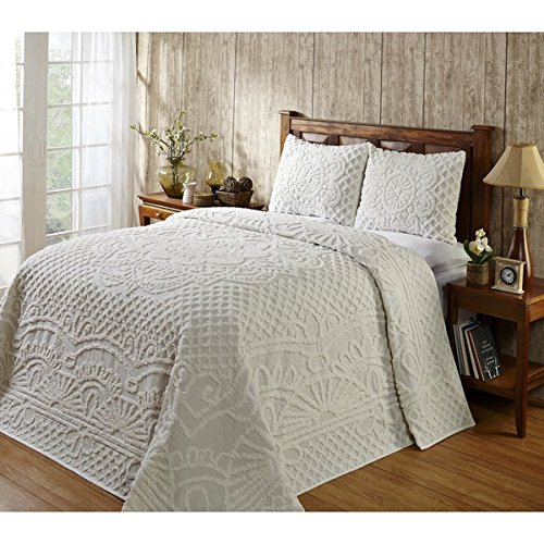 3 Piece Oversized Chenille King Bedspread