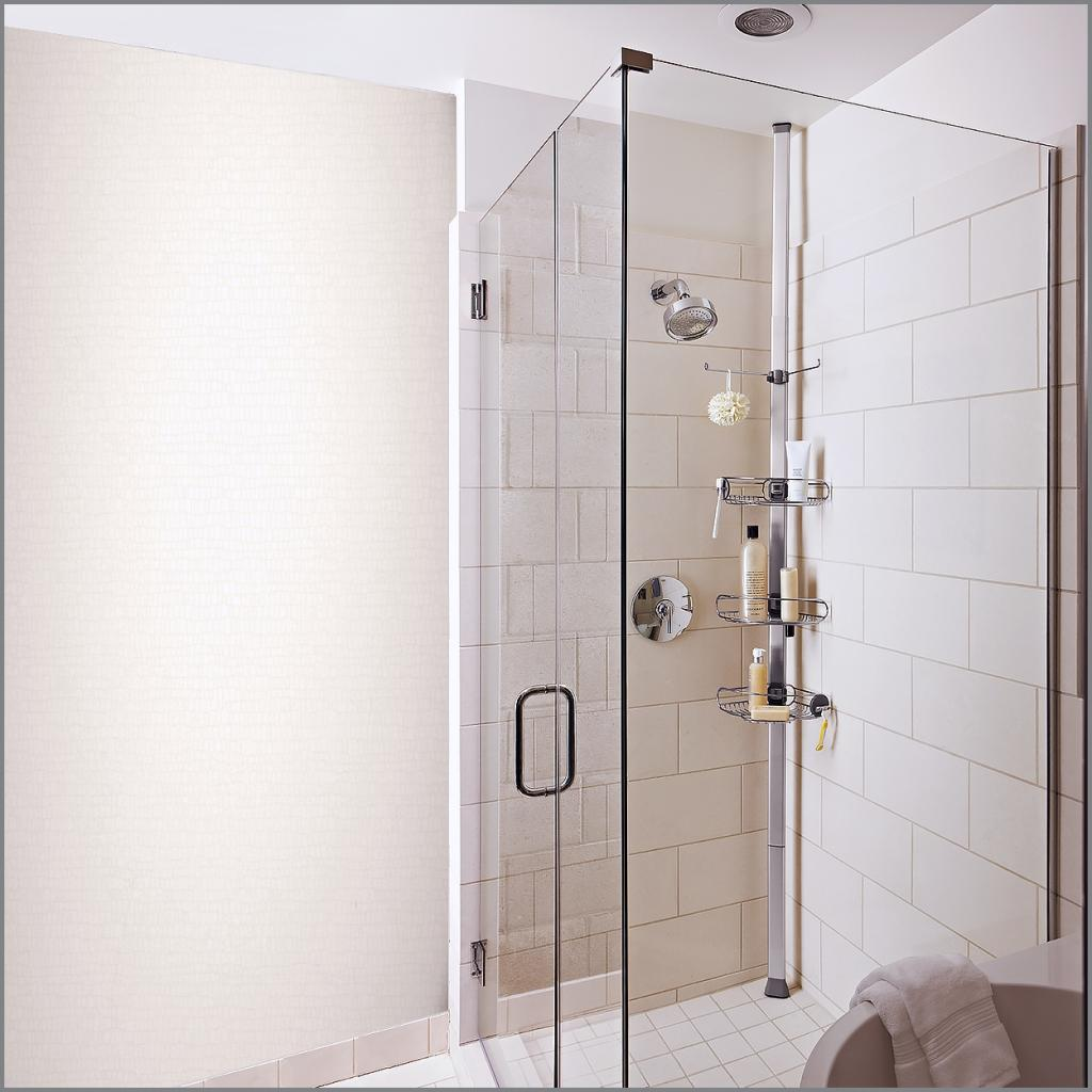Best tension shower caddy bathroom shower accessories for Floor to ceiling shower caddy