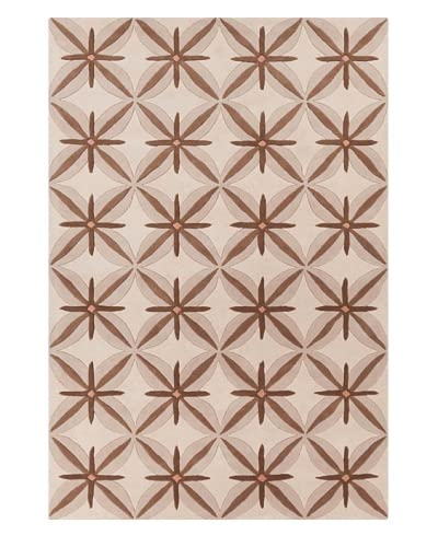 Filament Meghann Hand-Tufted Wool Rug, Brown, 5′ x 7′ 6″