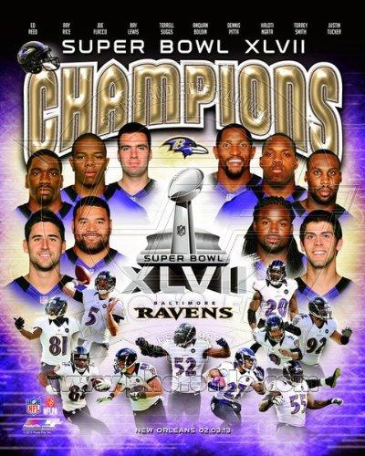 Baltimore Ravens Super Bowl XLVII Champions 8x10 Photo COMPOSITE PHOTO
