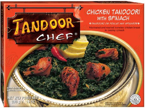 Tandoor Chef Chicken Tandoori w/Spinach, 10-Ounce Boxes (Pack of 12)