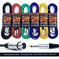 "Microphone Lead/Mic Cable 1m 3m 6m 10m Lifetime Warranty (Female XLR to Male 1/4"" Jack)"