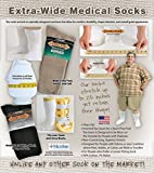 Extra-Wide Medical (Diabetic) Socks for Men (11-16 (up to 6E wide), White)