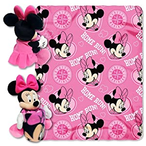 MLB Seattle Mariners Minnie Mouse 40x50-Inch Throw with 14-Inch Hugger by Disney