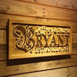 wpa0246 Personalized Custom Wedding Anniversary Family Sign Surname Last First Name Rustic Home Décor Housewarming Gift 5 Year