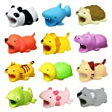 Diruite 12-Pack for Cable Bite, Cute Animal Cable Protects Saver Compatible for iPhone Cable Bite Cord Data Line Protector Cell Phone Accessories - Permanent Warranty Replacement (Color: 12-Pack)