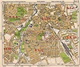 SE LONDON. Catford Hither/Rushey/Lee Green Lewisham Ladywell. BACON, 1933 map