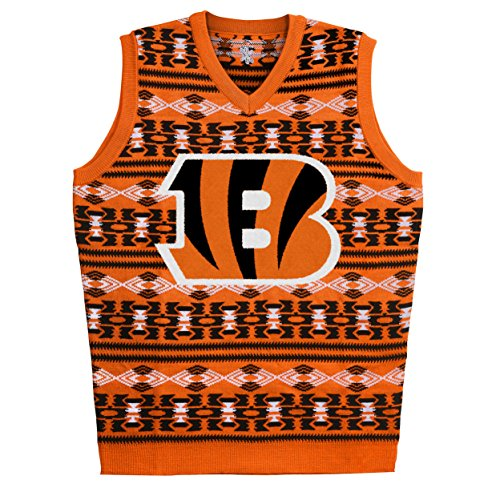 NFL Cincinnati Bengals Ugly Sweater Vest