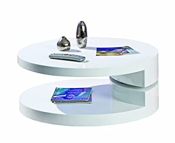 Links 20800930 Rotondie Table Basse Ronde Pivotante 80 x 80 x 33 cm