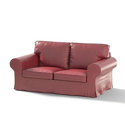 Dekoria Rivestimento per divano Ektorp a 2 posti non apribile Rivestimento per divano, adatto al modello Ikea Ektorp, bordeaux chiaro
