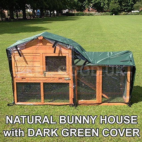 Double Decker Bunny House with Run and Cover