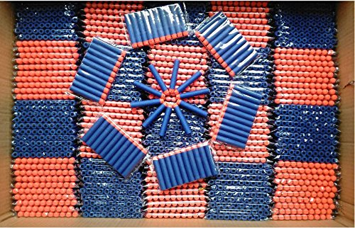 Nicky's Gift 2015 Blue 400pcs Blasters Kids Toy for Nerf N Strike Gun Bullet Darts Round Head (Nerf Guns Bullets compare prices)