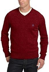 Original Penguin Men's Hector Lambswool V-Neck Sweater
