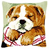 Vervaco Cross Stitch Cushion Sleeping Bulldog