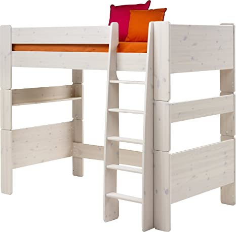 Steens Kids Pine High-Sleeper Bed, Whitewash Finish