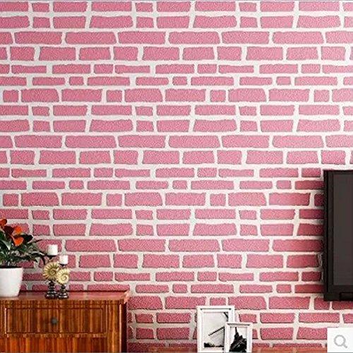 3d-retro-uneven-brick-pattern-brick-texture-wallpaper-fresh-mediterranean-10m-red