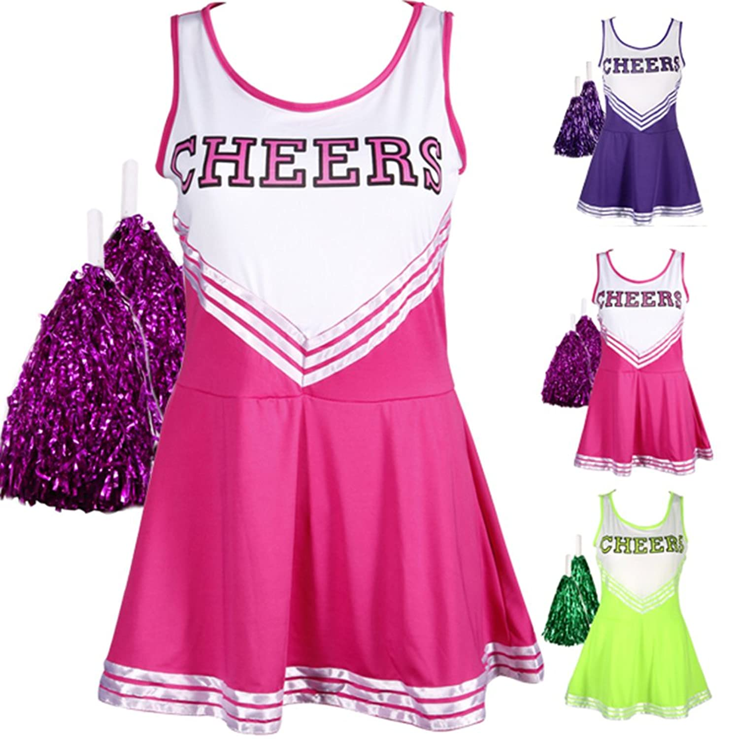 Fun Cheerleader Minidress Costume. Spread ...  sc 1 st  Costume Overload & Cute Cheerleader Halloween Costumes for Girls u0026 Women