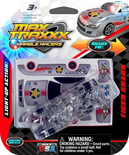 Max Traxxx Tiger Shark Light Up Marble Racer Car