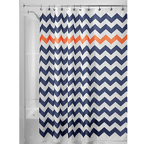 InterDesign Chevron Soft Fabric Shower Curtain,