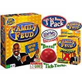 Endless Games Family Feud 5th Edition, Family Feud Strikeout Card Game & Exclusive Electronic Red 3 Mode Game Answer Buzzer and Count Down Timer Deluxe Gift Set Bundle - 3 Pack