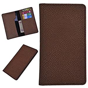 DSR Pu Leather case cover for Vivo v1 max (brown)