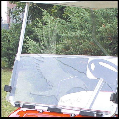 Clear Club Car Ds Golf Cart Windshield 1982 Thru 2000 front-382199