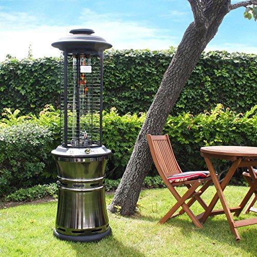 Heat BTU Outdoor Patio Propane Heater With Exclusive Spiral - Built in patio heaters