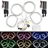 FEELDO 4pcs/Set Car CCFL Angel Eyes Light Halo Rings Kits For Mazda 3 (2003-2009) Headlight DRL 6-Color (White)