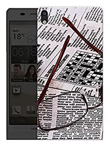 """Humor Gang Glasses And Newspaper Printed Designer Mobile Back Cover For """"Huawei Acsend P6"""" (3D, Matte, Premium Quality Snap On Case)"""