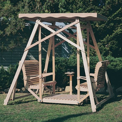 Canopy Glider Swing, Plan No. 818 (Woodworking Project Paper Plan)