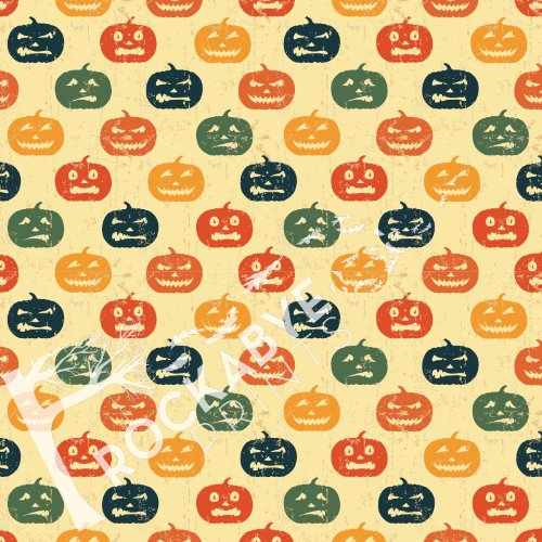 Photography Backdrop / Floordrop - 5Ft X 5Ft Grunge Jack O'Lanterns - Durable Vinyl Backgroud front-421331