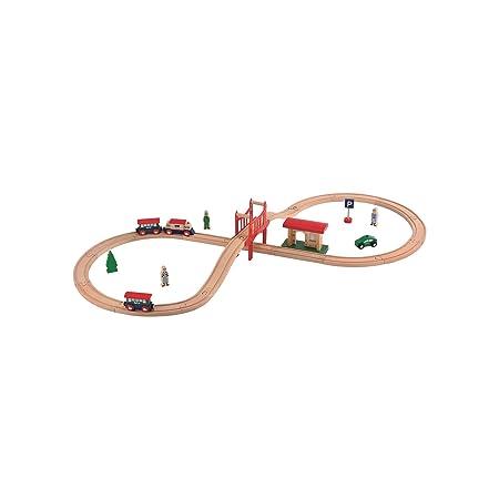 Elc - 135595 - Jouet De Premier Age - Kit De Train En Bois De 8 Figurines