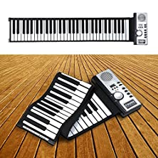 buy Portable 61 Thickening Keys Midi Soft Keyboard Piano Flexible Roll Up Electronic Piano