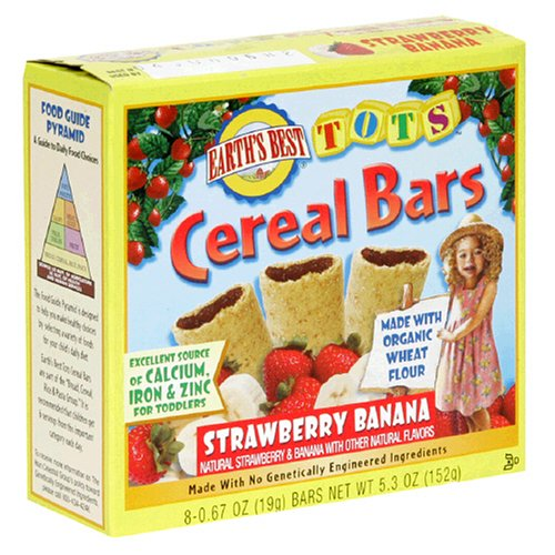 Earth's Best Organic Tots Cereal Bars, Strawberry Banana, 5.3-Ounce Boxes (Pack of 6)