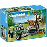 PLAYMOBIL Jungle Animals with Researcher and Off-Road Vehicle