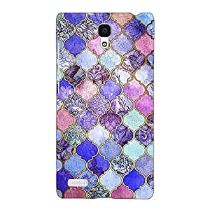 Jugaaduu Purple Moroccan Tiles Pattern Back Cover Case For Redmi Note